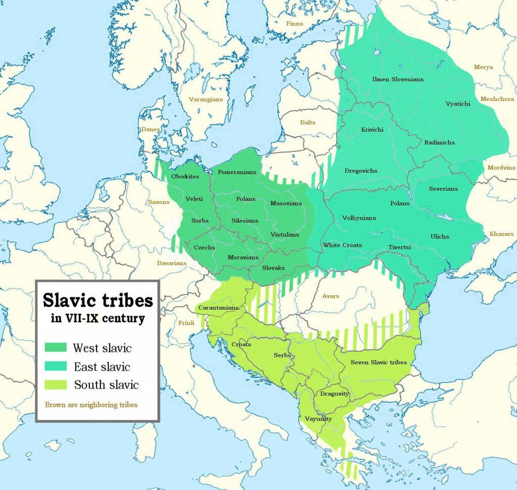 Slavic map